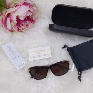 NWT Balmain Acetate Sunglasses